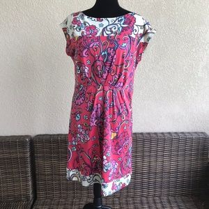 Lilly Pulitzer Ava Dress Cameo White Island Coral